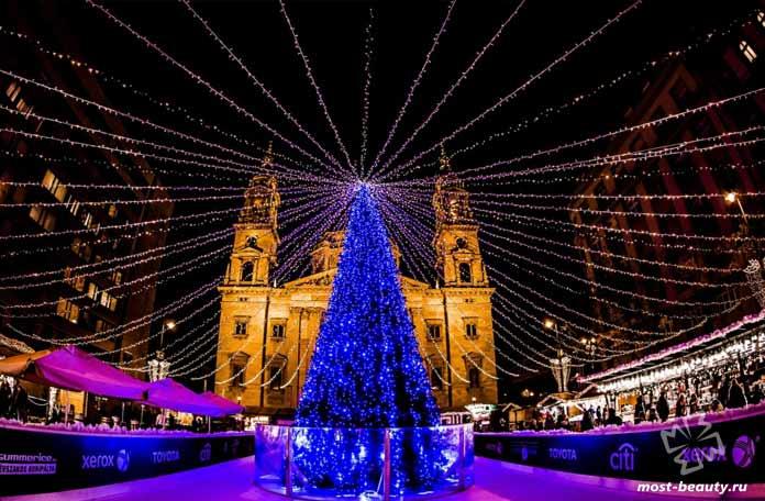 Будапешт в рождество - один из самых недооценённых романтических городов. СС0
