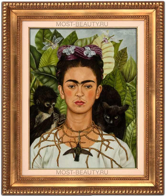 Автопортрет в терновом ожерелье с колибри (1940)