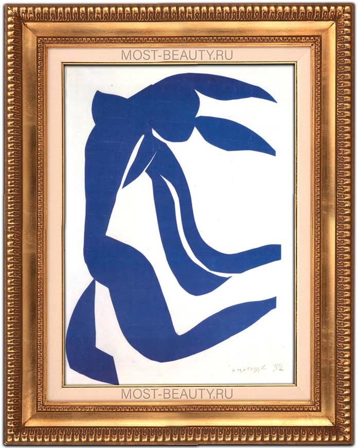 Необычные работы Анри Матисса: Голубая обнажённая II (1952)