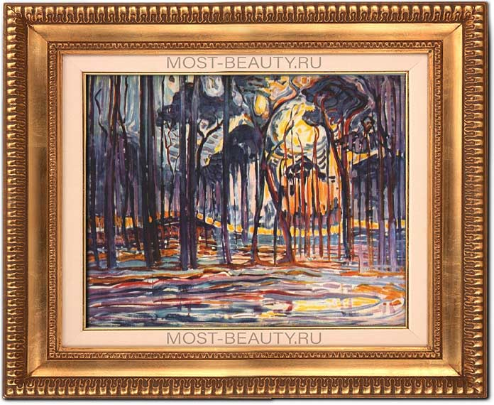 Самые известные творения Пита Мондриана: Лес близ Оеле