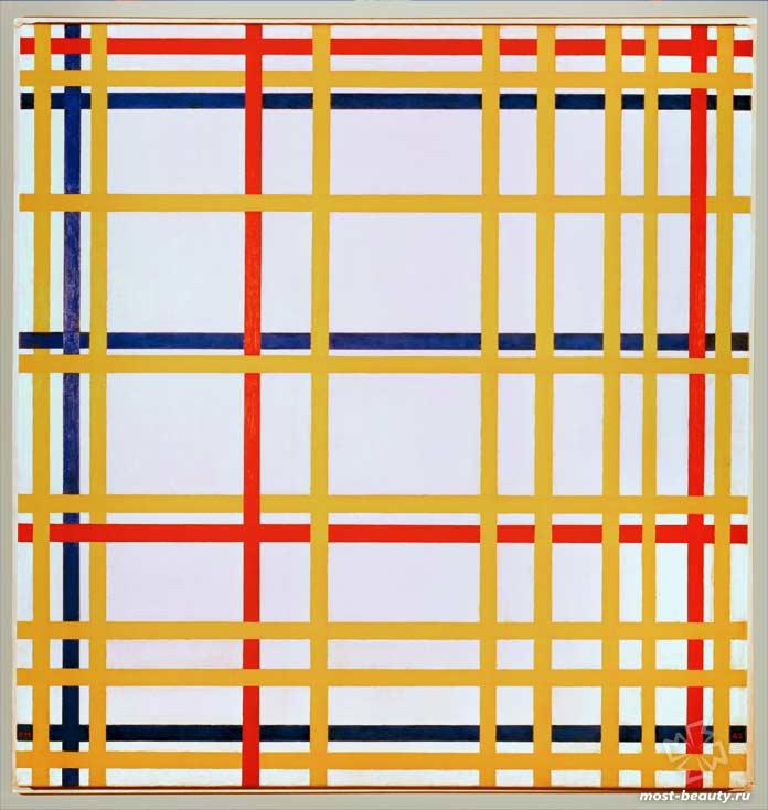 Самые известные картины Пита Мондриана: Нью-Йорк I