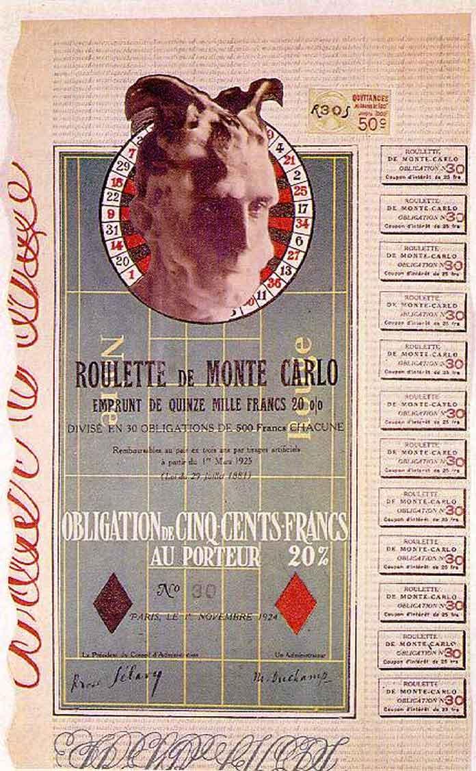 Работы Марселя Дюшана: Долговое обязательство № 30 (1924)