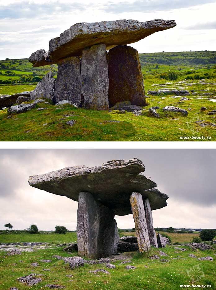 Красивые места Ирландии: Дольмен Пулнаброн. CC0