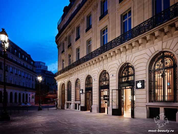 красивые магазины Apple: 12 рю Галеви