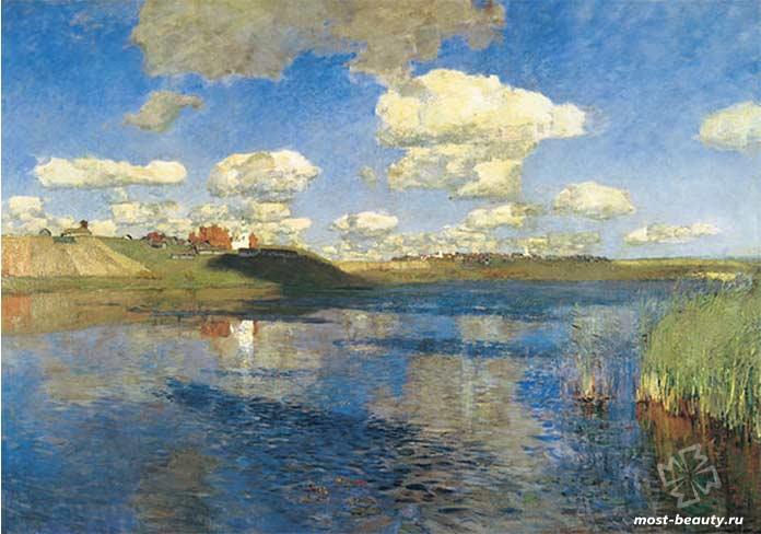 картины Левитана: Озеро. Русь.cc0