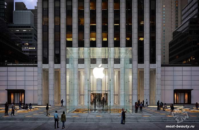 красивые магазины Apple: Пятая авеню