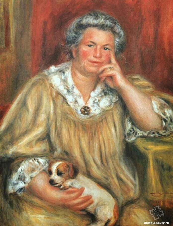 Мадам Ренуар с Бобом (1910). CC0