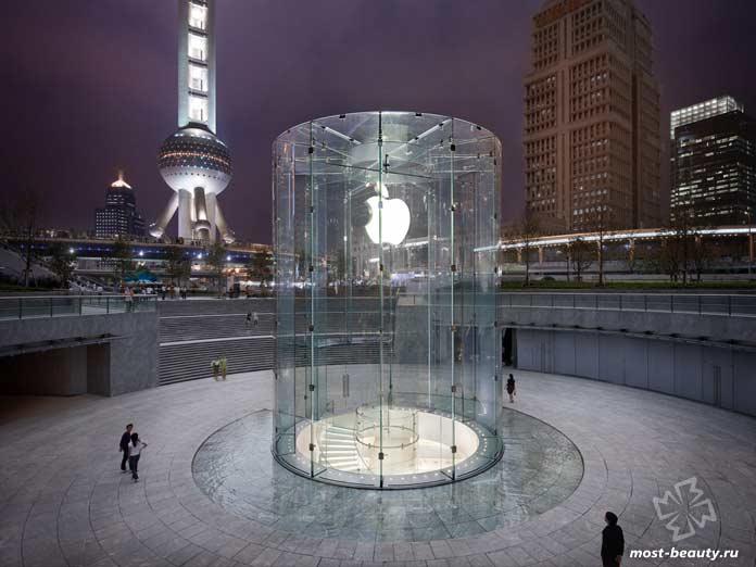 красивые магазины Apple: Район Пудонг