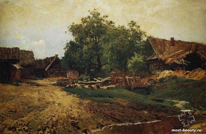 картины Левитана: «Саввинская слобода под Звенигородом», 1884