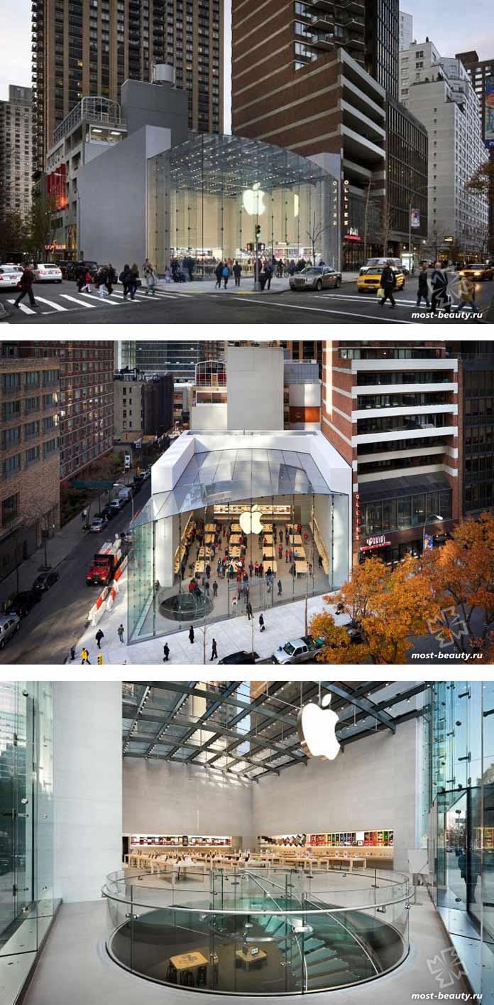 красивые магазины Apple: Аппер Вест Сайд