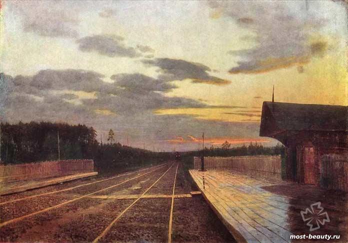 картины Левитана: «Вечер после дождя», 1879