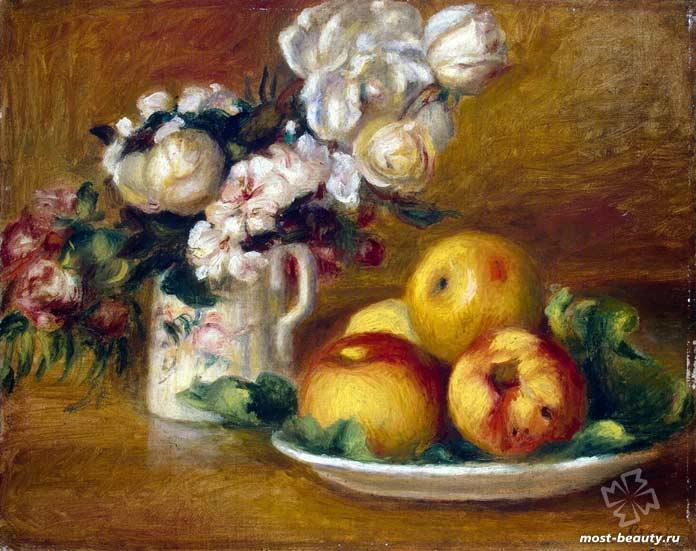 Яблоки и цветы (1895). CC0