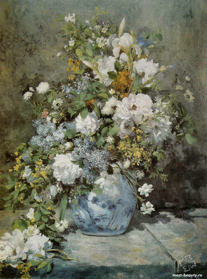 картины Ренуара: «Весенний букет» (1866)