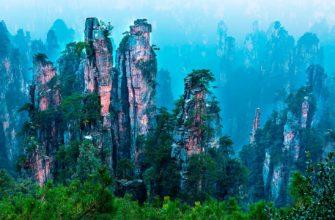 «Парящие» горы Тяньцзы в Китае