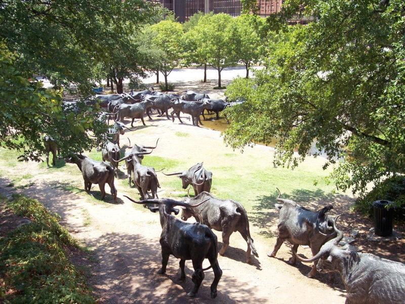 Композиция установлена там, где раньше останавливались на отдых погонщики скота