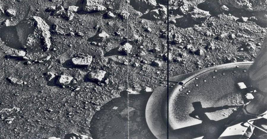 Первая фотография поверхности Марса