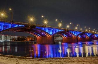 Набережная на левом берегу Енисея и Коммунальный мост